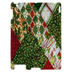 Christmas Quilt Background Apple iPad 2 Hardshell Case