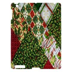 Christmas Quilt Background Apple iPad 3/4 Hardshell Case
