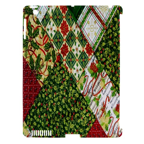 Christmas Quilt Background Apple iPad 3/4 Hardshell Case (Compatible with Smart Cover)