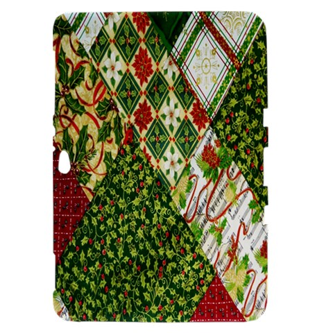 Christmas Quilt Background Samsung Galaxy Tab 8.9  P7300 Hardshell Case