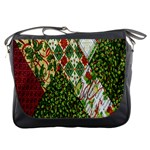 Christmas Quilt Background Messenger Bags Front