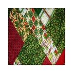 Christmas Quilt Background Acrylic Tangram Puzzle (6  x 6 ) Front
