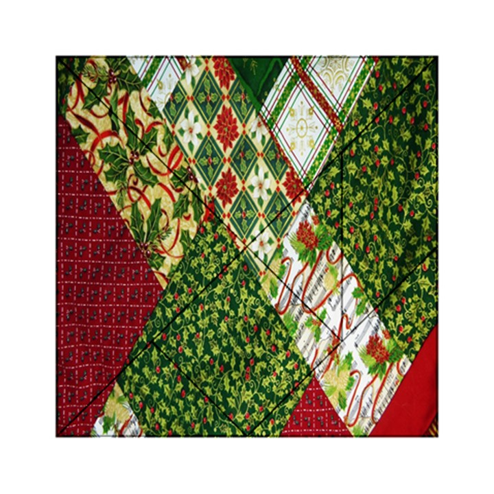 Christmas Quilt Background Acrylic Tangram Puzzle (6  x 6 )