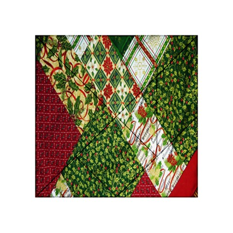 Christmas Quilt Background Acrylic Tangram Puzzle (4  x 4 )