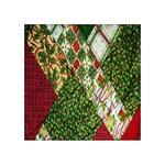 Christmas Quilt Background Acrylic Tangram Puzzle (4  x 4 ) Front