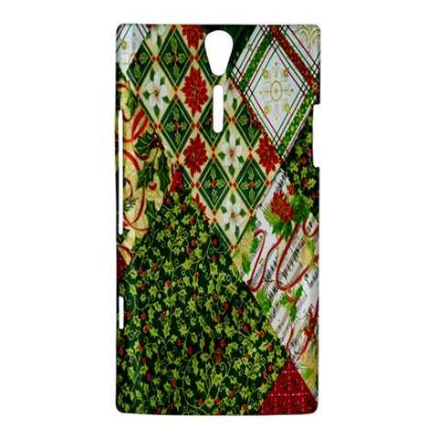 Christmas Quilt Background Sony Xperia S