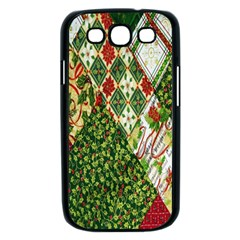 Christmas Quilt Background Samsung Galaxy S III Case (Black)