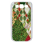 Christmas Quilt Background Samsung Galaxy S III Case (White) Front