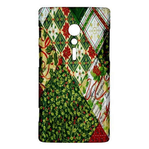 Christmas Quilt Background Sony Xperia ion