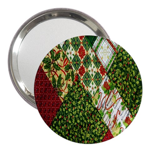 Christmas Quilt Background 3  Handbag Mirrors