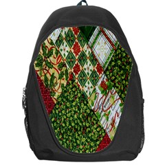 Christmas Quilt Background Backpack Bag