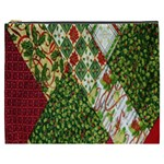 Christmas Quilt Background Cosmetic Bag (XXXL)  Front