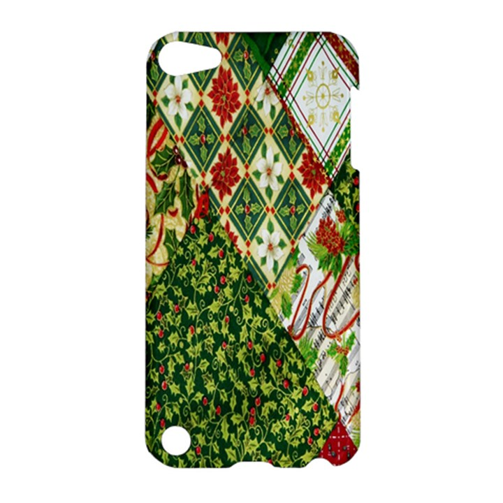 Christmas Quilt Background Apple iPod Touch 5 Hardshell Case