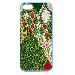 Christmas Quilt Background Apple Seamless iPhone 5 Case (Color)