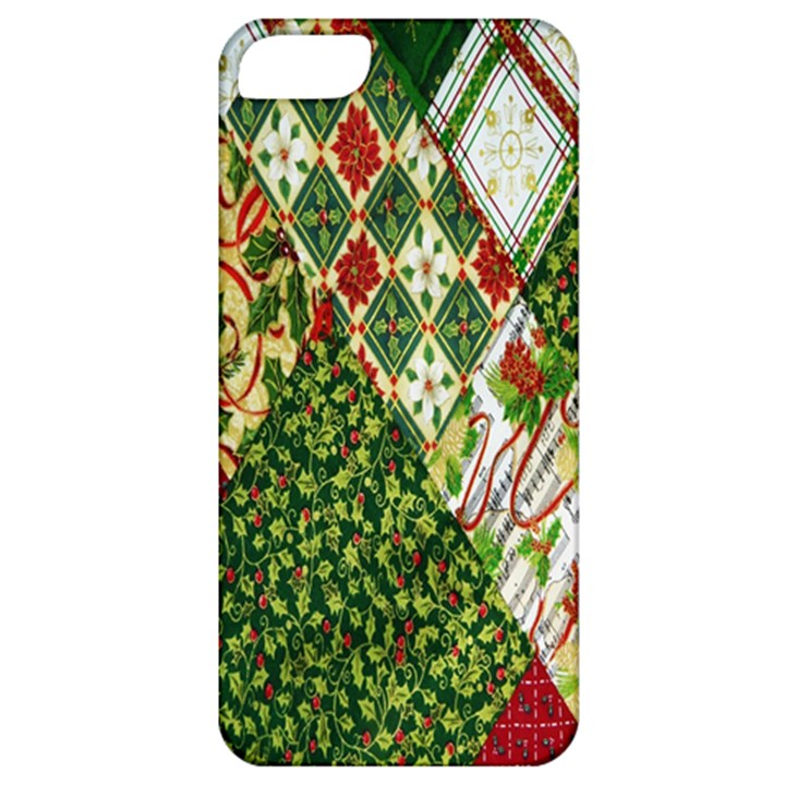 Christmas Quilt Background Apple iPhone 5 Classic Hardshell Case