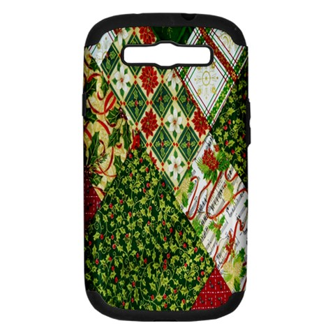 Christmas Quilt Background Samsung Galaxy S III Hardshell Case (PC+Silicone)