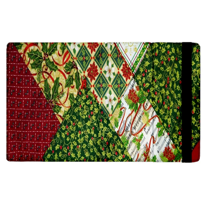 Christmas Quilt Background Apple iPad 2 Flip Case