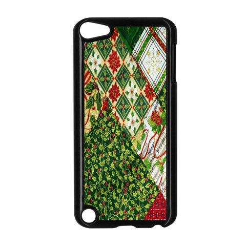 Christmas Quilt Background Apple iPod Touch 5 Case (Black)