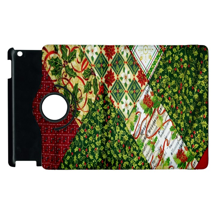 Christmas Quilt Background Apple iPad 2 Flip 360 Case
