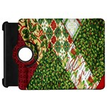 Christmas Quilt Background Kindle Fire HD Flip 360 Case Front