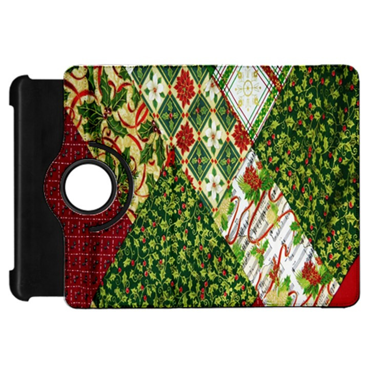 Christmas Quilt Background Kindle Fire HD Flip 360 Case