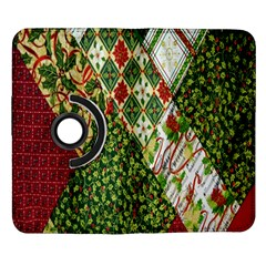 Christmas Quilt Background Samsung Galaxy Note II Flip 360 Case
