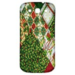 Christmas Quilt Background Samsung Galaxy S3 S III Classic Hardshell Back Case Front