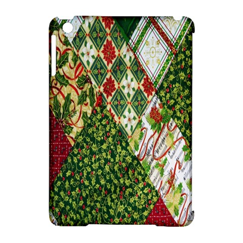 Christmas Quilt Background Apple iPad Mini Hardshell Case (Compatible with Smart Cover)