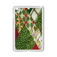 Christmas Quilt Background iPad Mini 2 Enamel Coated Cases