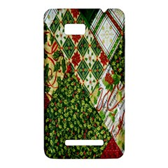 Christmas Quilt Background HTC One SU T528W Hardshell Case