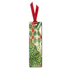 Christmas Quilt Background Small Book Marks