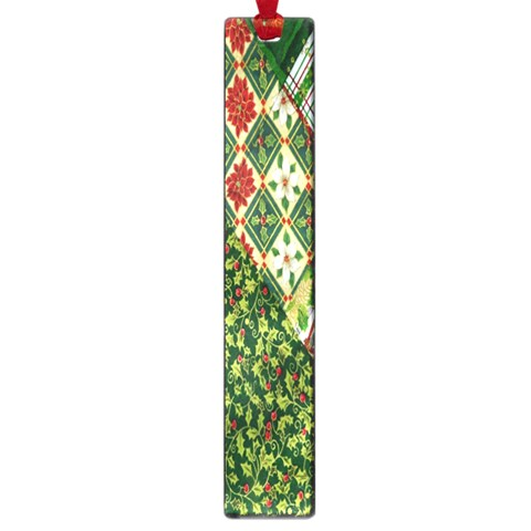 Christmas Quilt Background Large Book Marks