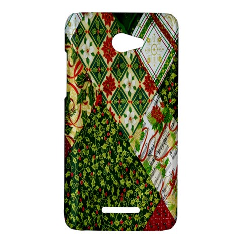 Christmas Quilt Background HTC Butterfly X920E Hardshell Case