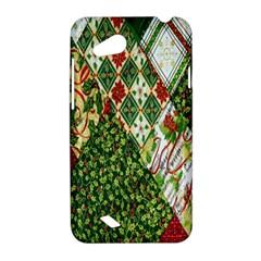 Christmas Quilt Background HTC Desire VC (T328D) Hardshell Case