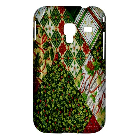 Christmas Quilt Background Samsung Galaxy Ace Plus S7500 Hardshell Case