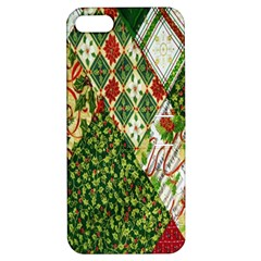 Christmas Quilt Background Apple iPhone 5 Hardshell Case with Stand
