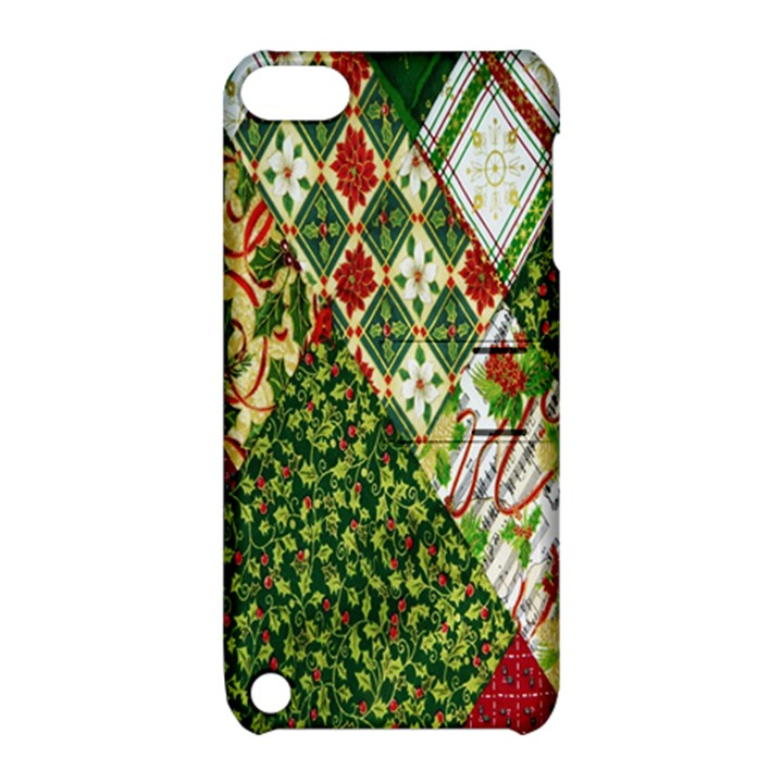 Christmas Quilt Background Apple iPod Touch 5 Hardshell Case with Stand