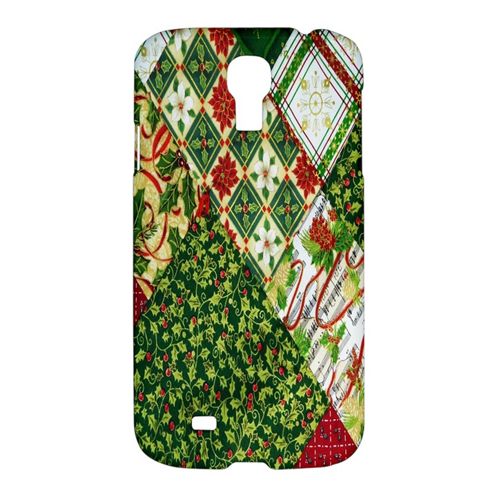 Christmas Quilt Background Samsung Galaxy S4 I9500/I9505 Hardshell Case