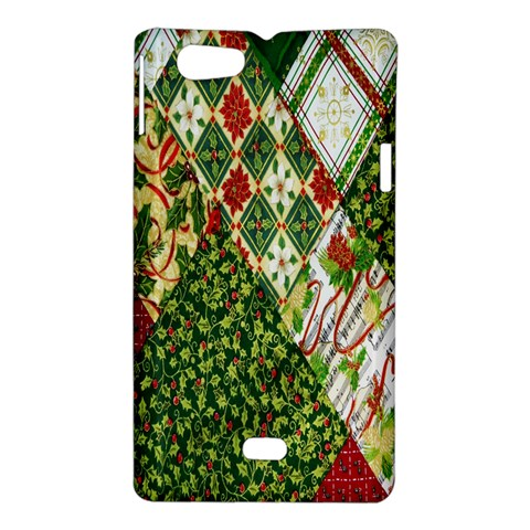 Christmas Quilt Background Sony Xperia Miro