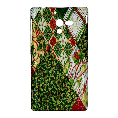Christmas Quilt Background Sony Xperia ZL (L35H)