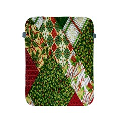 Christmas Quilt Background Apple iPad 2/3/4 Protective Soft Cases