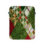 Christmas Quilt Background Apple iPad 2/3/4 Protective Soft Cases Front