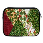 Christmas Quilt Background Apple iPad 2/3/4 Zipper Cases Front