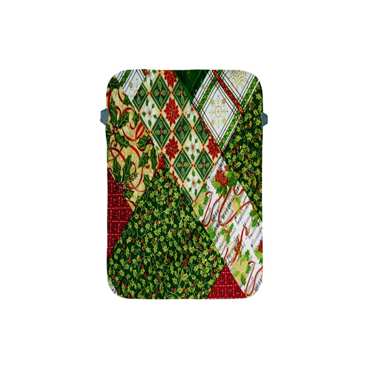 Christmas Quilt Background Apple iPad Mini Protective Soft Cases
