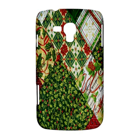 Christmas Quilt Background Samsung Galaxy Duos I8262 Hardshell Case