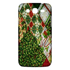 Christmas Quilt Background Samsung Galaxy Mega 5.8 I9152 Hardshell Case