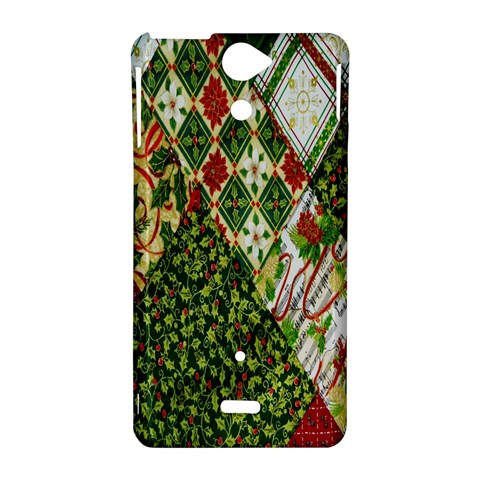 Christmas Quilt Background Sony Xperia V