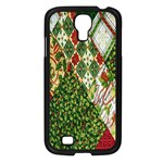 Christmas Quilt Background Samsung Galaxy S4 I9500/ I9505 Case (Black) Front