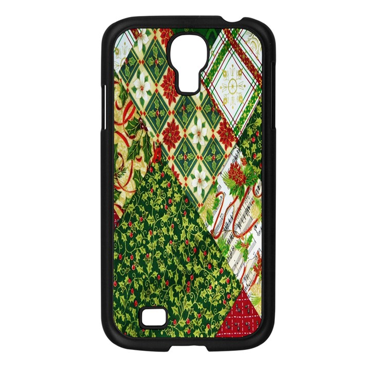 Christmas Quilt Background Samsung Galaxy S4 I9500/ I9505 Case (Black)
