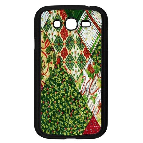 Christmas Quilt Background Samsung Galaxy Grand DUOS I9082 Case (Black)